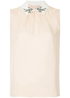 Rebecca Taylor embroidered collar blouse