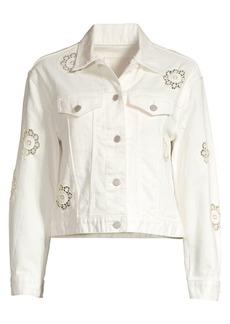 Rebecca Taylor Eyelet Denim Jacket