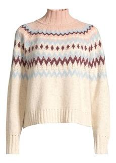 Rebecca Taylor Fairisle Wool-Blend Knit Sweater