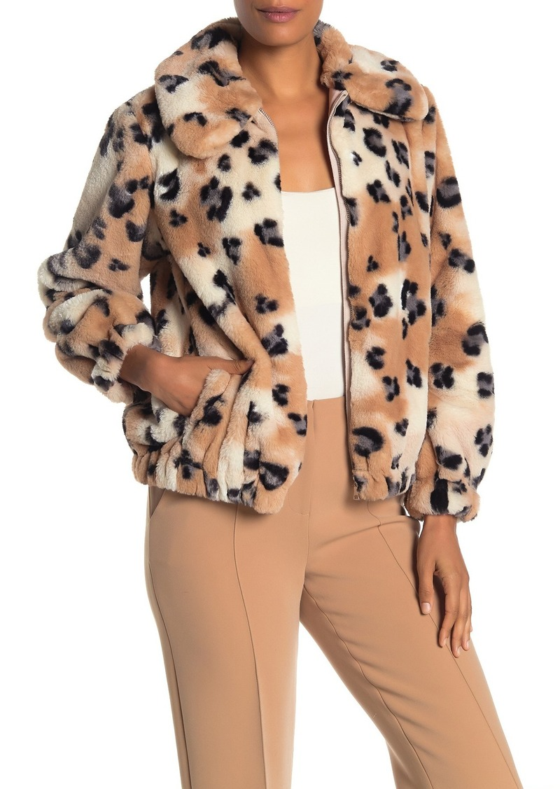 Rebecca Taylor Faux Fur Cheetah Coat