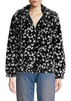 Rebecca Taylor Faux Fur Cheetah Print Coat