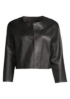 Rebecca Taylor Leather Crop Jacket