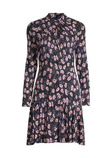 Rebecca Taylor Fleur Long-Sleeve Dress