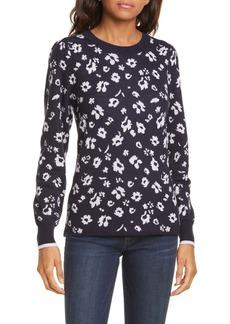 Rebecca Taylor Floral Intarsia Merino Wool Pullover (Nordstrom Exclusive Color)