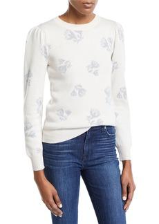 Rebecca Taylor Floral Jacquard Wool-Blend Sweater