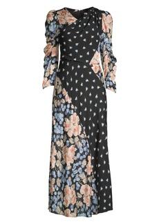 Rebecca Taylor Floral Mix Print Dress