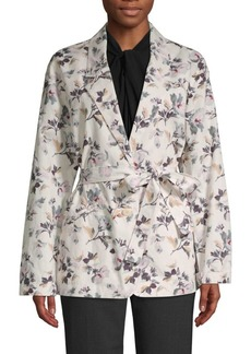 Rebecca Taylor Floral-Print Cotton & Linen Jacket