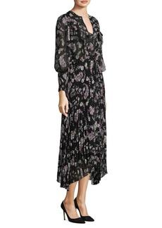 Rebecca Taylor Floral-Print Midi Dress