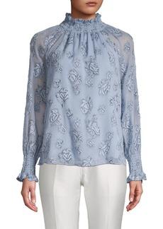 Rebecca Taylor Floral-Print Raglan-Sleeve Top