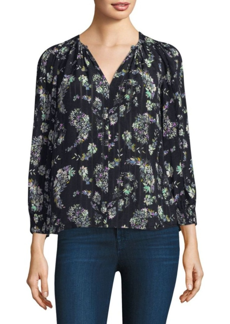 Rebecca Taylor Floral-Print Silk Top