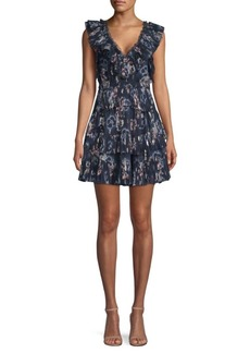 Rebecca Taylor Silk Tiered Ruffle Dress