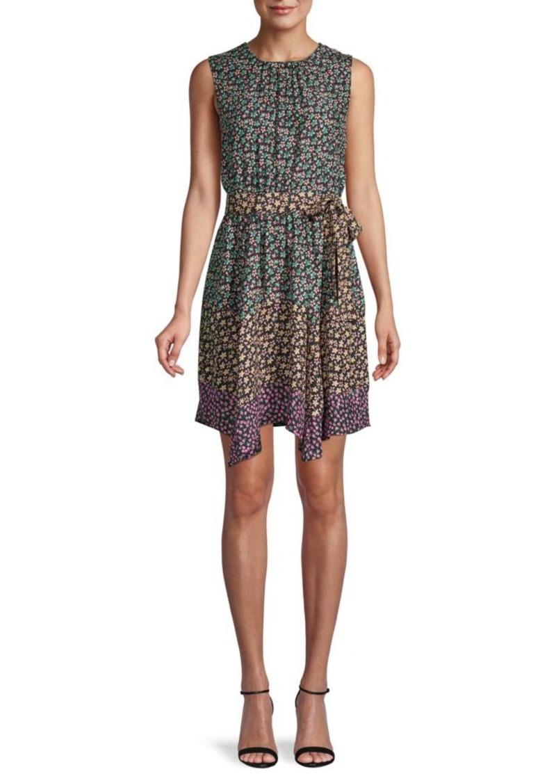 Rebecca Taylor Floral Silk Mini Dress