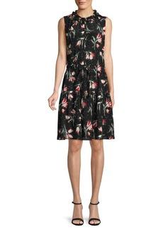 Rebecca Taylor Floral Silk Popover Dress