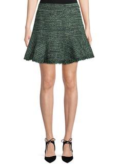 Flounce-Hem A-Line Skirt