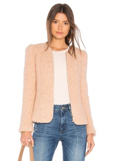 Rebecca Taylor Fluffy Tweed Jacket
