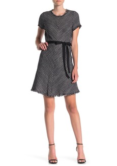 Rebecca Taylor Frayed Tweed Dress