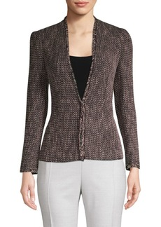 Rebecca Taylor Frayed Tweed Jacket