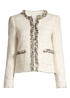 Rebecca Taylor Fringed Tweed Jacket