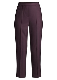 Rebecca Taylor Gabardine Straight Cropped Pants