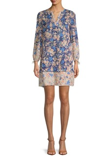 Rebecca Taylor Gigi Floral Silk Shift Dress