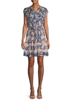 Rebecca Taylor Gigi Floral Silk Shirtdress