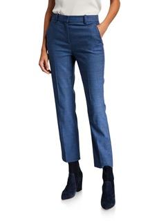 Rebecca Taylor Glen Plaid Straight-Leg Pants