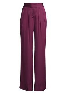 Rebecca Taylor High-Rise Satin Pants