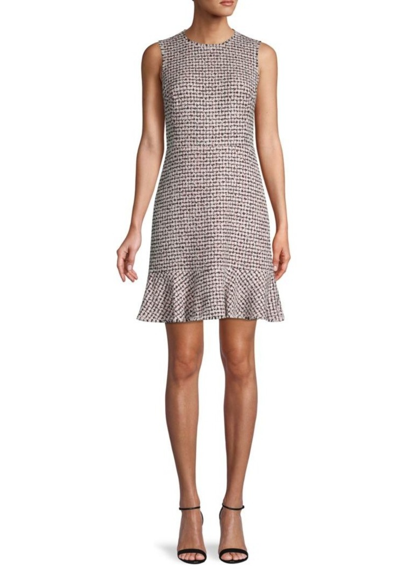 Rebecca Taylor Houndstooth Mini Tweed Dress