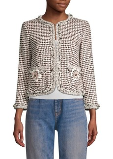 Rebecca Taylor Houndstooth Tweed Jacket