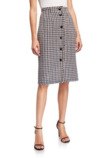 Rebecca Taylor Houndstooth Tweed Skirt