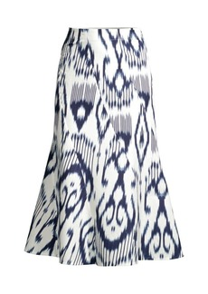 Rebecca Taylor Ikat Printed Linen Skirt