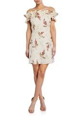 Rebecca Taylor Ivie Off-Shoulder Embellished Dress
