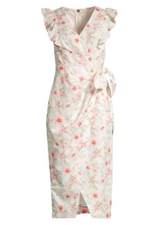Rebecca Taylor Kamea Floral Wrap Dress