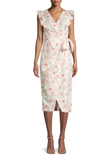 Rebecca Taylor Kamea Floral Wrap Dress