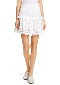 Rebecca Taylor Karina Cotton Eyelet Mini Skirt