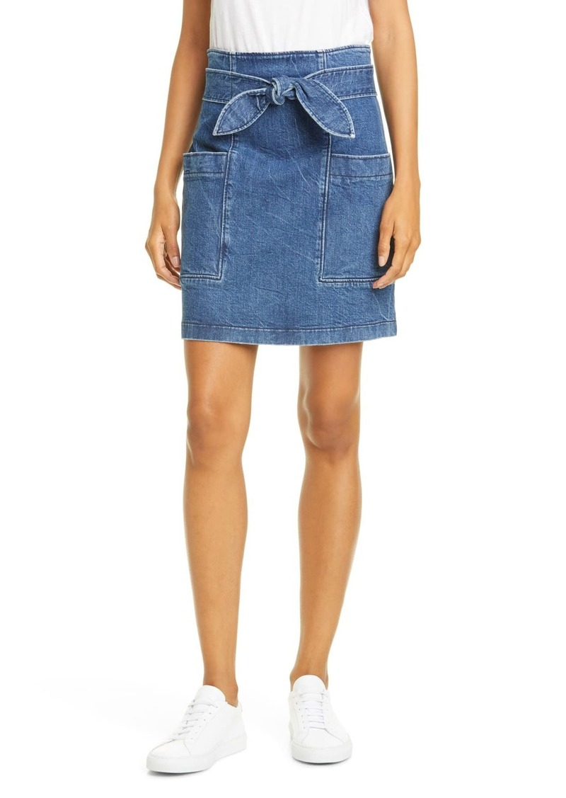 Rebecca Taylor Knotted Denim Miniskirt