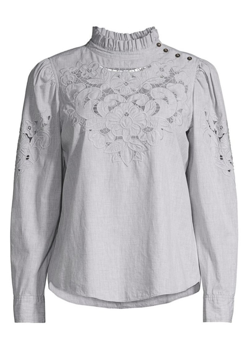 Rebecca Taylor La Vie Leah Embroidered Top