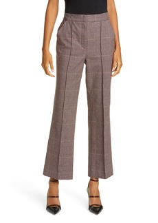 La Vie Rebecca Taylor Astrid Plaid Stretch Cotton Pants