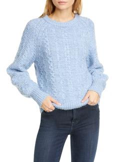 La Vie Rebecca Taylor Cable Crewneck Sweater