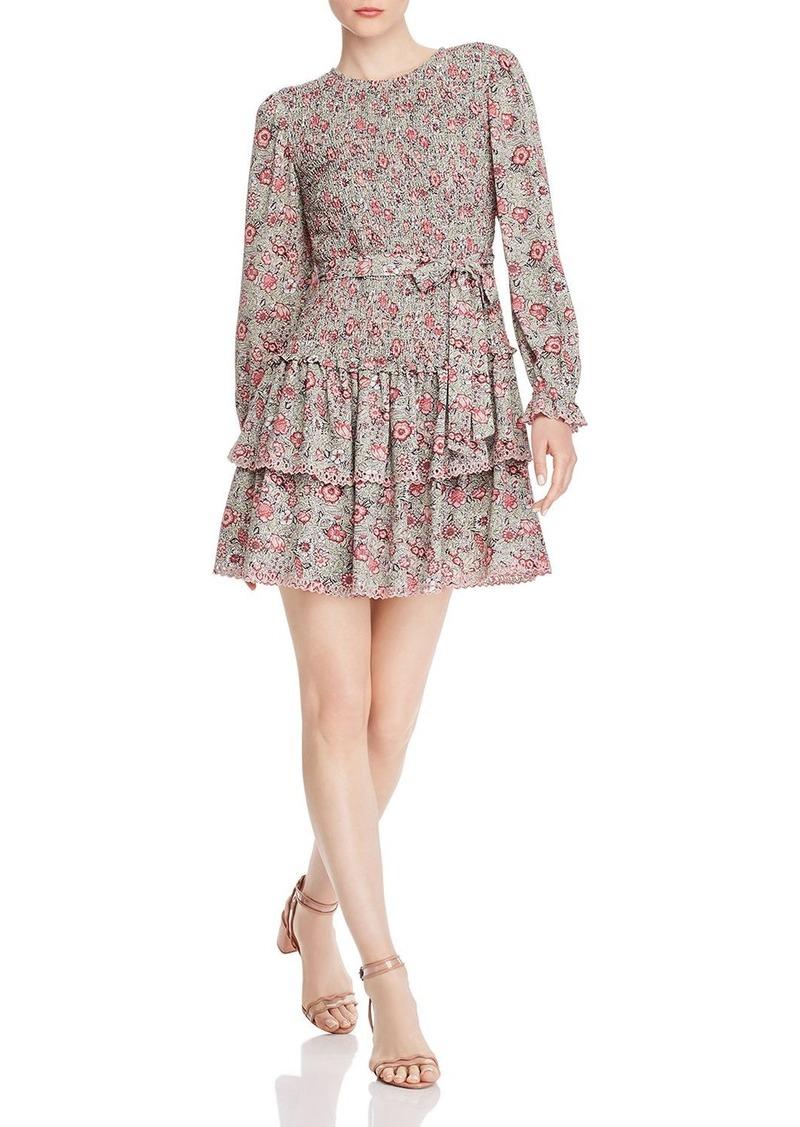 La Vie Rebecca Taylor Camila Smocked Floral Dress
