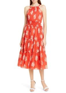 La Vie Rebecca Taylor Catrine Halter Top Cotton Dress