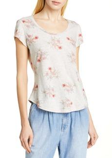 La Vie Rebecca Taylor Catrine Linen & Cotton Jersey Top