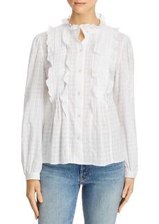 La Vie Rebecca Taylor Celia Ruffled Shirt