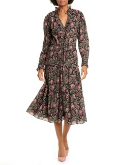 La Vie Rebecca Taylor Chouette Long Sleeve Dress