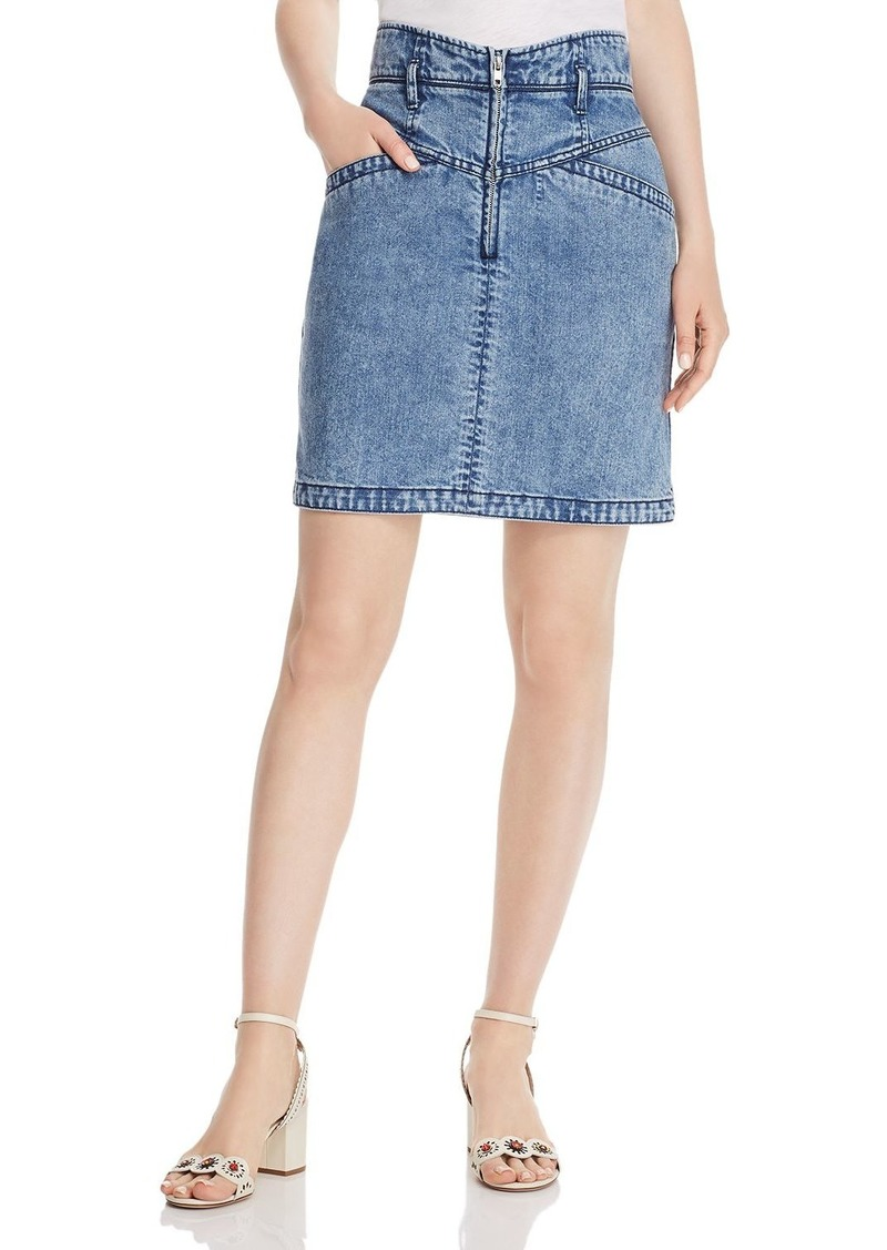 La Vie Rebecca Taylor Contoured Denim Pencil Skirt