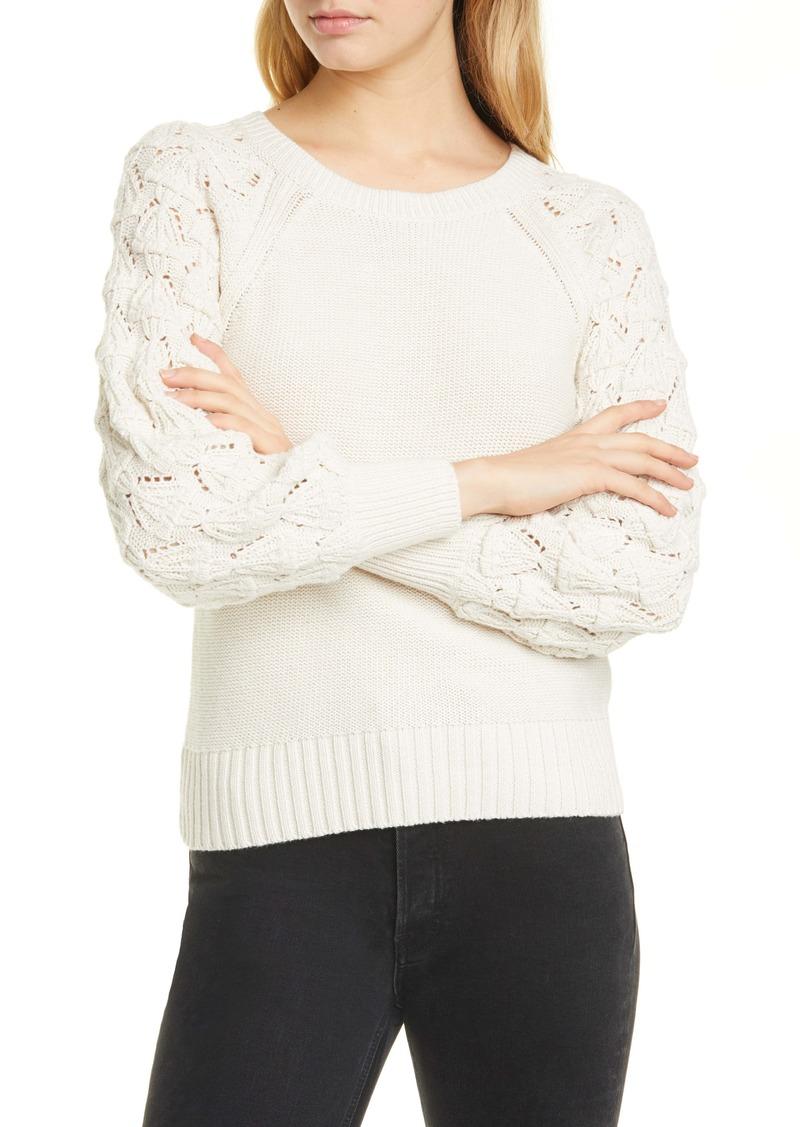 La Vie Rebecca Taylor Contrast Sleeve Pullover