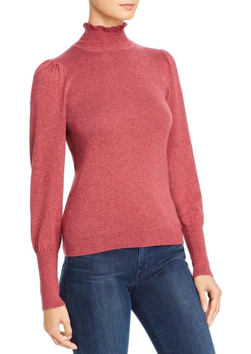 LA VIE Rebecca Taylor Cozy Lettuce-Edge Mock Neck Sweater - 100% Exclusive