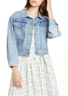 La Vie Rebecca Taylor Crop Denim Jacket