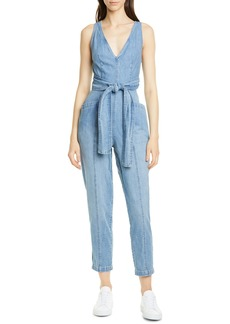 La Vie Rebecca Taylor Crop Denim Jumpsuit