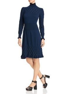 La Vie Rebecca Taylor Dia Pointelle Knit Sweater Dress